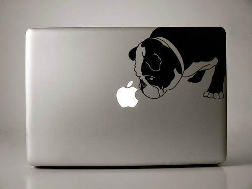 Curtis the English Bulldog - Black Decal Macbook Laptop