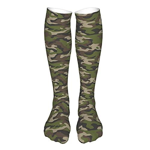 Unisex Athletic Socks Camo Breathable Running Tab Socks with Cushion Sole