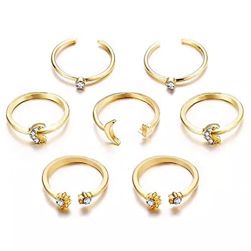 Kit di anelli | Luna e diamanti