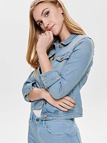 ONLY NOS Onltia Dnm Jacket BB LB Bex179 Noos Chaqueta Vaquera, Azul (Light Blue Denim Light Blue Denim), 42 (Talla del Fabricante: 40.0) para Mujer