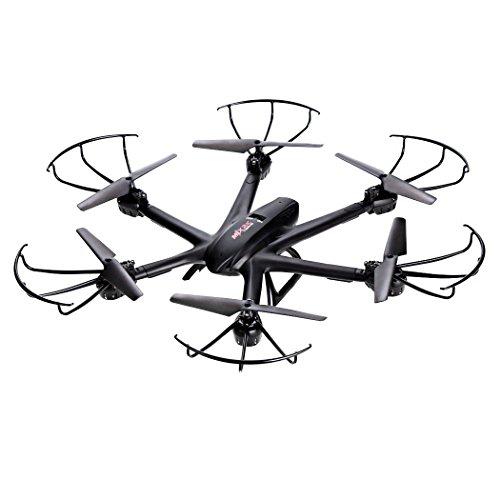 efaso Hexacopter MJX X600 - 2,4 GHz Drohne FPV kompatibel mit LEDs, Headless Mode, Rotorschutz, One-Key-Return Funktion und Geschwindigkeitsregler