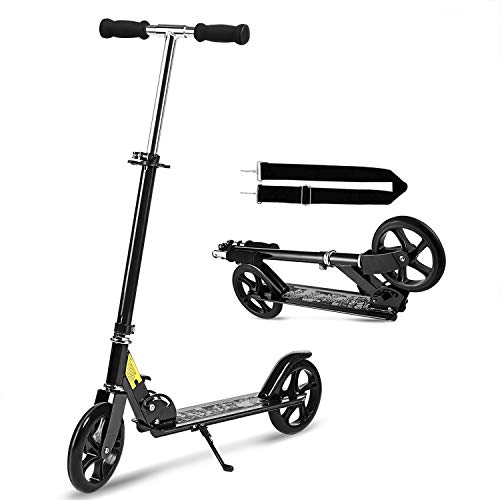 WeSkate Scooter Roller Tretroller mit Tragegurt | Roller Erwachsene Klappbar und Höhenverstellbar Cityroller für Erwachsene Jugendliche und Kinder ab 8 Jahre