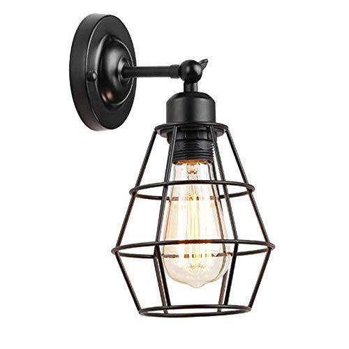 Mengjay Lámpara de Pared Vintage Industrial Ajustable Metal E27 Base Aplique de Pared Jaula de Alambre Antiguo Estilo Retro Rústico para la Sala de Estar Del Dormitorio Mesa de Comedor