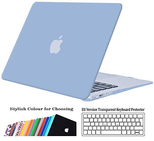 Blau Leather KECC MacBook Air 13 H/ülle Leder Schutzh/ülle Case w//EU Tastaturschutz MacBook Air 13.3 H/ülle {A1466//A1369}