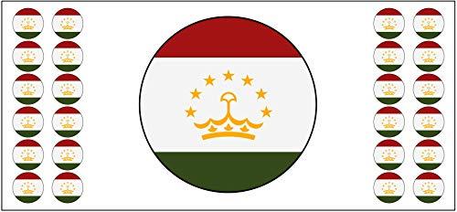 Tadschikistan-Flagge Banner – Poster – Party-Dekoration – Feier – Event – Weltmeisterschaft (2 Stück)