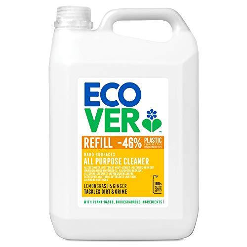 Ecover Nettoyant Multi-Usages Format XL Origine Naturelle avec Eco-Surfactants Multi-Surfaces, Citron, 5 L
