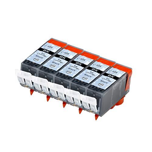Abakoo Merotoner - Cartuchos de tinta de repuesto para Canon PGI 525 CLI 526 XXL para Pixma MG5350, MG6100, IP4900, IP4840, IP4850, IP4950, IX6550, MG6200, MG6250 y MG8250 (5 unidades), color negro