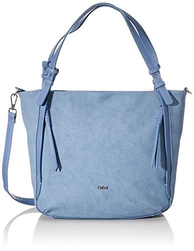 Gabor Damen Boliva Schultertasche, Blau (Hellblau), 40x30x9 cm