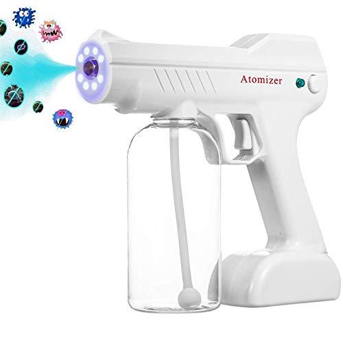 AMDIMOHB Esterilización Handheld Spray Pistola Portable Pulverizador Portátil Recargable Portátil Pasterable Máquina Pulsera Azul Nano Steam Spray Pistola DISINFECCIÓN 1300W (Color : White)