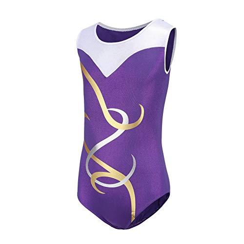 Smilikee Gymnastikanzüge für Mädchen Ärmelloses Gymnastikanzug Tanzen Athletisch Gymnastik anzüge mädchen Kinder glizer für Mädchen 5-14 Jahre