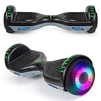 """SISIGAD Hoverboard with Bluetooth Speaker and Led Lights Smart 6.5"""" Self-Balancing Electric Scooter for Kids and Teenagers"""