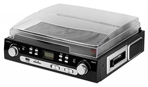 Technaxx Platten-Kassettendigitalisierer mit Stereo-Radio TX-22, LP Player, schwarz