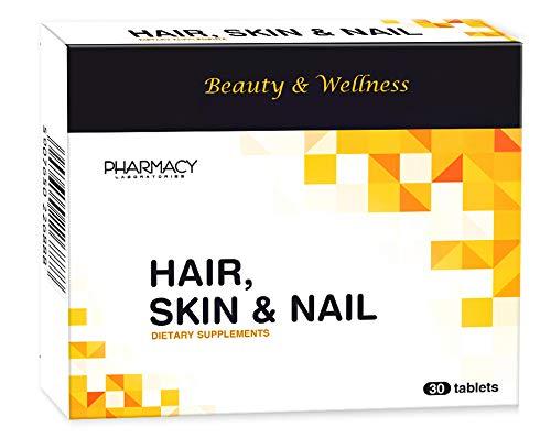Pharmacy Laboratories Hair, Skin & Nails | 30 Tabletten für Haar, Nägel & Haut | Enthält Biotin & Vitamine A, B6, B12, C, E | Hilft bei Haarausfall, brüchigen Nägeln & Verlust der Vitalität der Haut