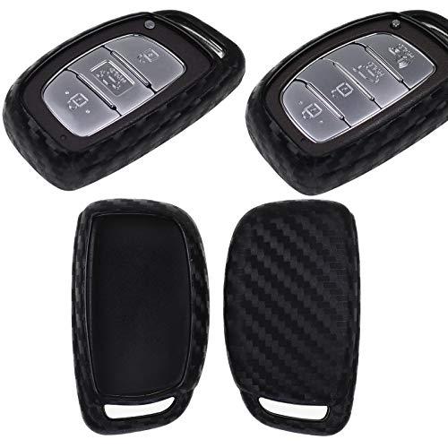 Carbon Soft Case Schutz Hülle Auto Keyless Schlüssel für Hyundai Accent i20 Grand i10 Ioniq ix25 Tucson Santa Fe