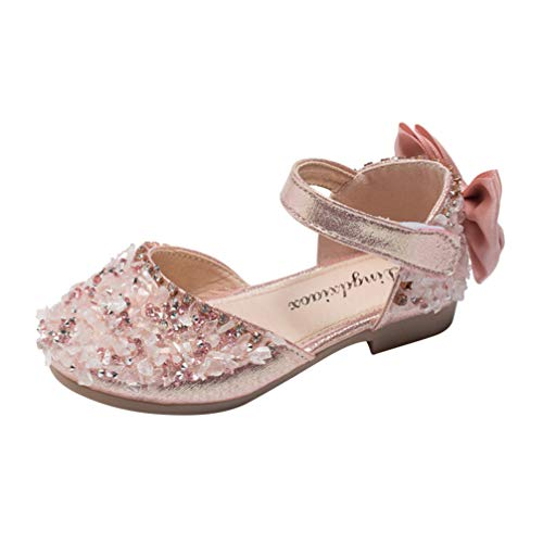 Holibanna Zapatos de Mary Jane para Niñas Sandalias de Princesa Bailarina de...