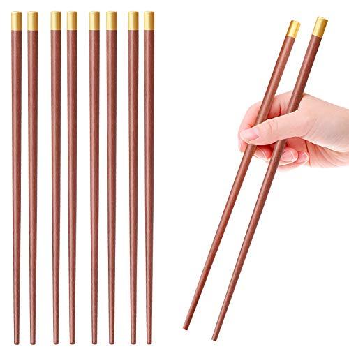 5 Pairs Japanese Natural Wood Chopsticks Reusable Tableware Sushi Chopsticks Set