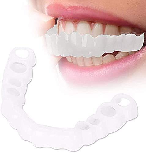 BEILA Dientes Cosmticos Temporales Dentadura Postiza Dientes Cosmticos Simulados Frenillos Tirantes Superiores, Blanqueamiento Dental Tapa A Presin En Carillas Cmodas Instantneas,2pieces