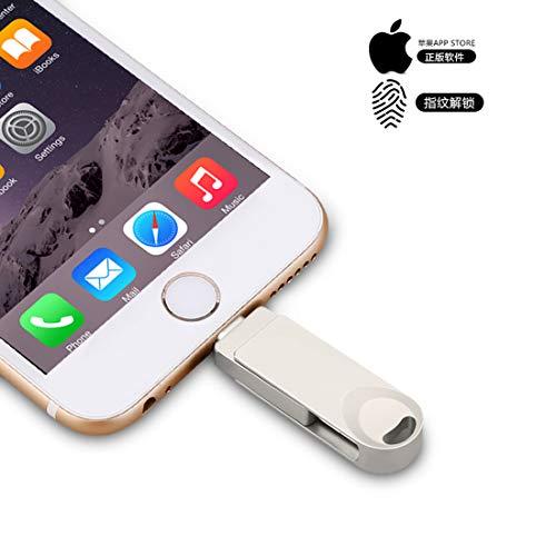 Chiavetta USB 3.0 per archiviazione di memoria, chiavetta di memoria esterna per iPhone, telefoni Android, iPad, iPod, Mac e PC, Y29 Silver 256 GB