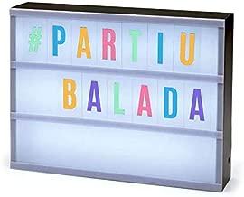 Luminária Palavras - Letreiro de Cinema com 85 Letras