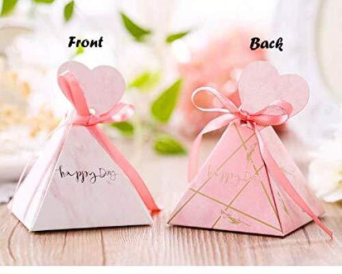 geschenkdoos LKU 50 creatieve snoepdozen babyshower benodigdheden driehoek piramide bruiloft benodigdheden geschenkdoos, 75x75x75mm