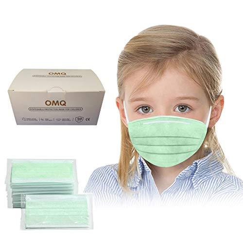 50 Stück Face Shield Gesichtsschutz Für Kinder Jungen Mädchen, Individuelles Paket Mundschutz, Half Face Visier Gesichtsschutz, Gesichtsschutzschirm, Schutzvisier, Safety Gesichtsschutzschild (Grün)
