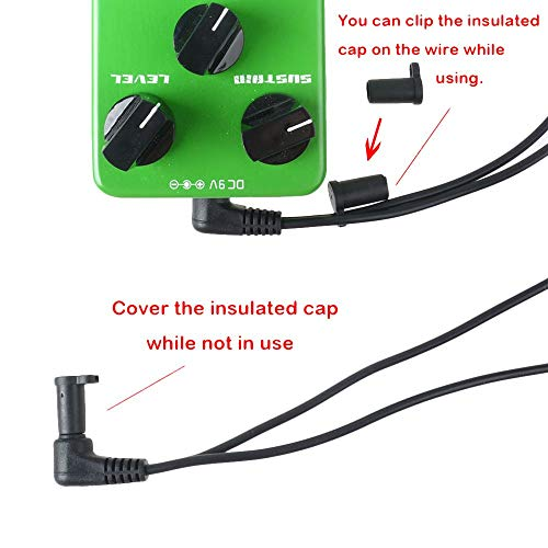 Mr.Power Guitar Effects Power Supply Adapter 9V DC 1A (1000mA) with Daisy Chain Cord Cable Free Insulated Cap (with 3 Way Cable)