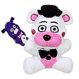 Xianzhou FNAF Plush Toy Freddy Plushie Fazbear 18cm Toys Five Nights at Freddy's White Bear Nightmare Cupcake Foxy Balloon Boy Clown Stuffed Dolls (Funtime Freddy )