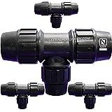 Suinga. Pack 4 x TE 32-25-32 MM POLIETILENO. Producto con certificado AENOR utilizado en tuberías PE 32 mm 1' y PE 25 mm 3/4' para uso fontanería, riego y obras.