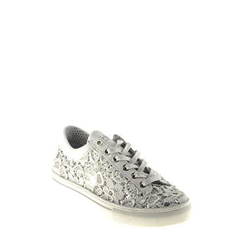 Felmini - Damen Schuhe - Verlieben Fame B020 - Sneakers - Echtes Leder - Weiß - 38 EU Size