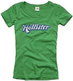 ホリスター HOLLISTER レディース S/S Tシャツ 14パターン フロッキープリント&アップリケ 半袖Tシャツ USA直輸入 並行輸入品