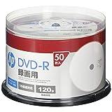 hp(ヒューレット・パッカード) 録画用DVD-Rホワイト・ディスク(SPケース) 50枚