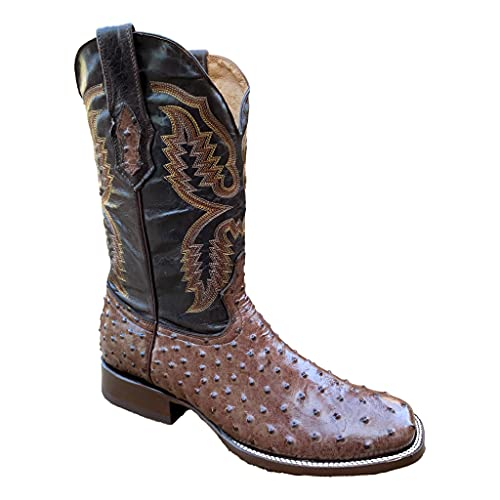 Square Toe Men's Cowboy Western Boots in Genuine Leather by GadwallAR