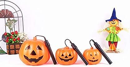 JX Lecal 3pcs Halloween Pumpkin Lantern , Party Halloween Portable LED Battery Operated Flash lamp Lantern Halloween Party Home Decoration Jack-O-Lantern