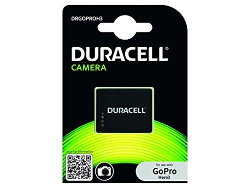 Duracell DRGOPROH3 - Batería para Go Pro Hero 3 (Li-Ion, 1000 mAh, 3.7 V), Negro