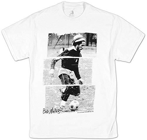 Men's Casual Bob Marley Soccer 77 T-shirt voor volwassenen