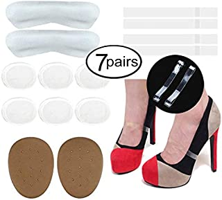 Avivnor Womens Anti-Loose Invisible Shoe Straps Band Silica Foot Pads High Heels Holding Insole Suit (Grey)