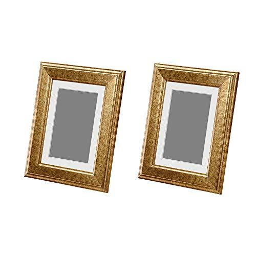 IKEA VIRSERUM Rahmen Gold 12,7 x 17,8 cm (2er-Set)