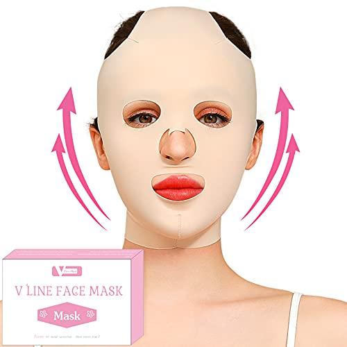 Reusable Facial Slimming Mask Anti Wrinkle V Full Face Lifting Chin Cheek Lift up Slim Belt Band Strap Slimming Thin Mask Sleeping Belts (Full Face Belts)
