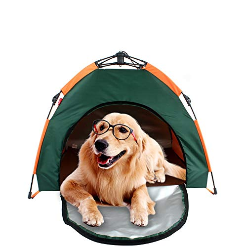 Collapsible Pet Dog Fence Tent Waterproof Portable Folding Dogs Camping Tents House Durable (Color : Pet tent, Size : 79X77X62cm)