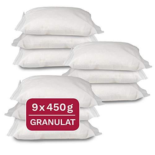 Universal Entfeuchter Nachfüllpackung, 9 x 450 g Granulat im Vliesbeutel, geeignet für gängige Raumluftentfeuchter