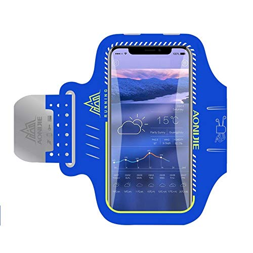 DFVmobile - Professional Cover Neoprene Armband Sport Walking Running Fitness Cycling Gym for Oukitel U10, Kindo U10 - Blue