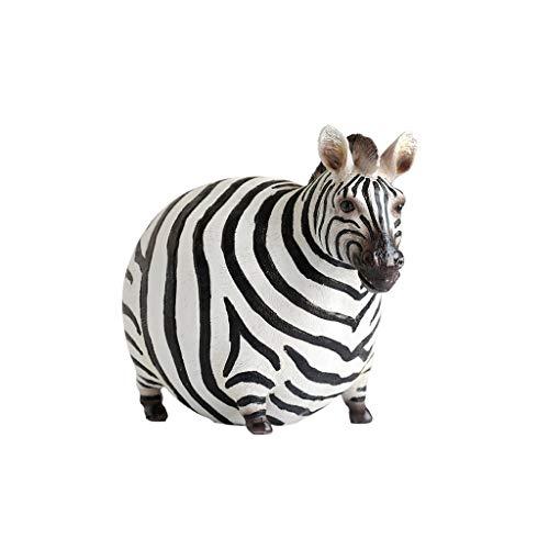 ZYING Cebra Estatua estatuilla Animal Creatividad Estilo Nórdico Accesorios for el hogar...