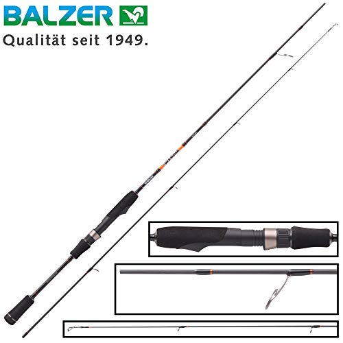 Balzer Shirasu Spoon 2,57m 0,5-4g - Ultra Light Rute zum Forellenangeln, Spinnrute zum Spinnfischen mit Forellenblinkern