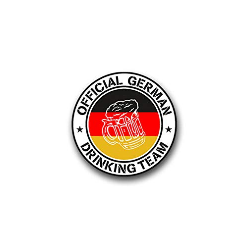 Aufkleber/Sticker Drinking Team Beer Bier Krug Flagge Official German 7cm A898