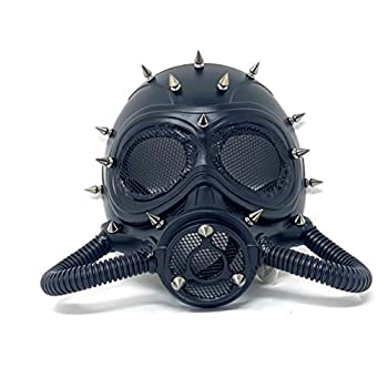 Storm buy] Steampunk Metallic Rivet Submarine Gas Respirator Wasteland Death Dystopian Halloween Ball Mask Prom Party