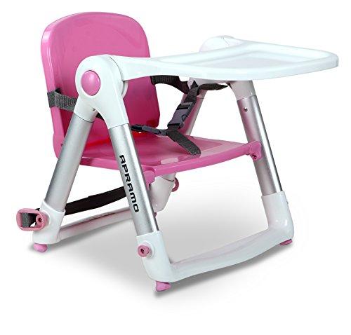 apramo Flippa – Chaise haute pour bébé portable, couleur ROSE