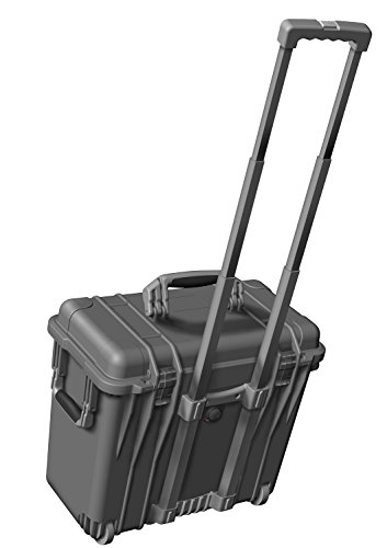 PELI 1440 Top Loader Case With Wheels and Telescopic Handle, IP67 Watertight, 82L Capacity, Made in US, No Foam, Black