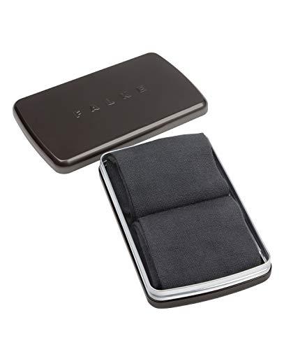 FALKE Herren Socken Airport 2-Pack Gift Box - Merinowoll-/Baumwollmischung, 2 Paar, Grau (Anthracite Melange 3080), Größe: 43-44