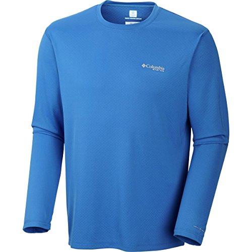 Columbia Men's PFG Zero Rules Long Sleeve Shirt, Vivid Blue, XX-Large