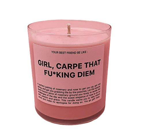 Ryan Porter - Girl Carpe That Diem Candle - Superior Quality Jar Candle - Specially Formulated Sweet Elegance Fragranced Beautiful and Stylish Look Suitable for Home Decoration Scented Candle